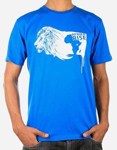 Afrika Rise Lion Tee Hellblau